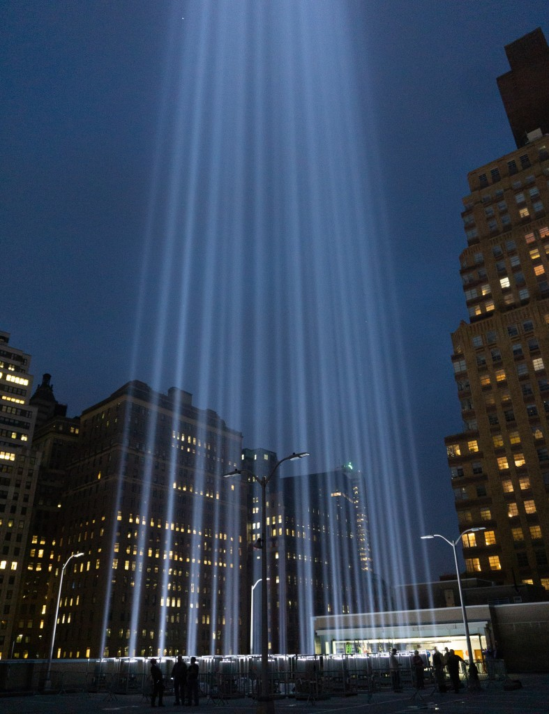 Tribute in Light, September 11, 2018, 8:40 p.m.