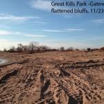 Great Kills Park flattened bluffs 11-23-12, courtesy Seth Wollney