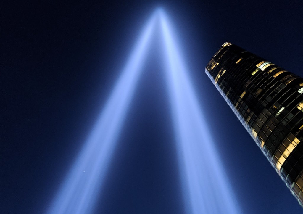 Tribute in Light 2019 © NYC Audubon